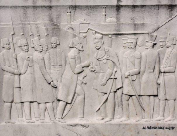 A törökök átadják Belgrád kulcsait