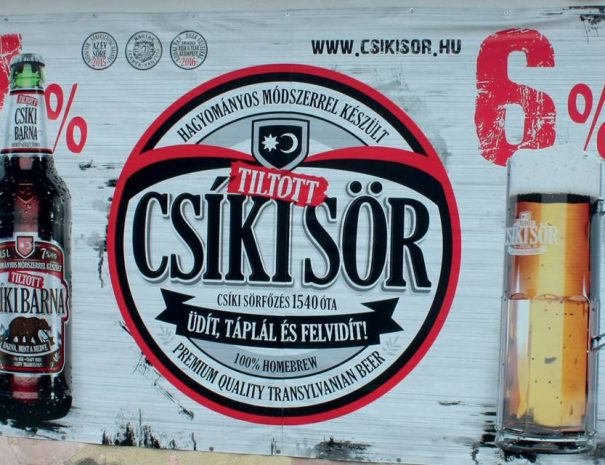Tiltott Csíki sör hirdetés