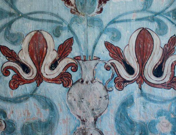 Festett kazetta a zabolai református templomban