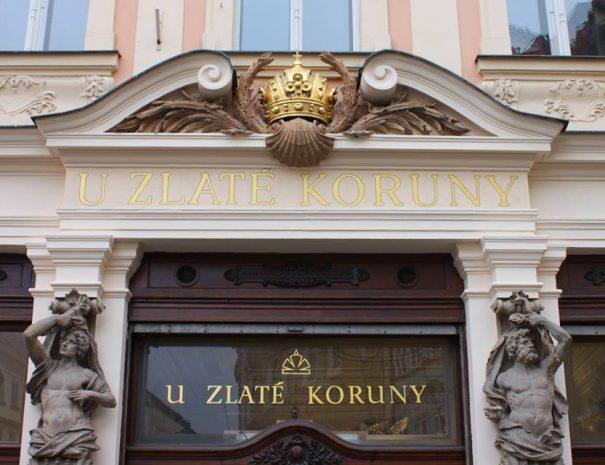 Ékszerbolt bejárata Prágában