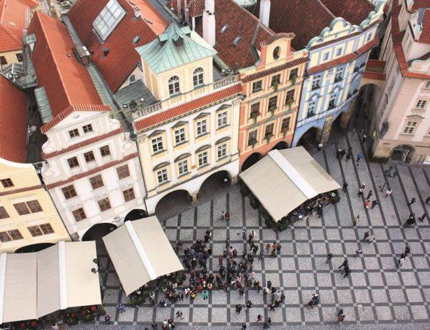 Kilátás a régi városháza tornyából, Prága