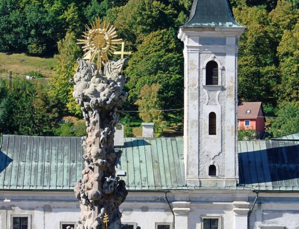 Szentháromság-oszlop Körmöcbánya főterén
