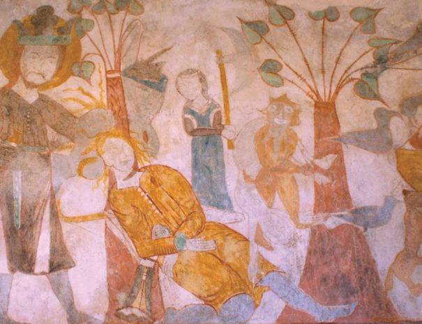 Szent László-legenda a vitfalvi templomban