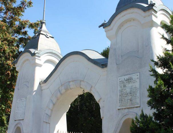 Mária királyné park bejárati kapuja, Temesvár